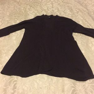 Gap purple open cardigan
